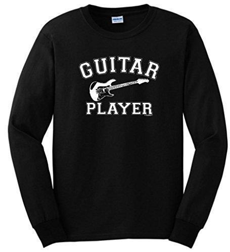 Electric Guitar Player Long Sleeve T-Shirt 3Xl Black