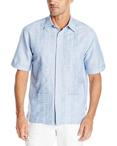 Cubavera Men's Short Sleeve Bottom Two Pocket Shirt