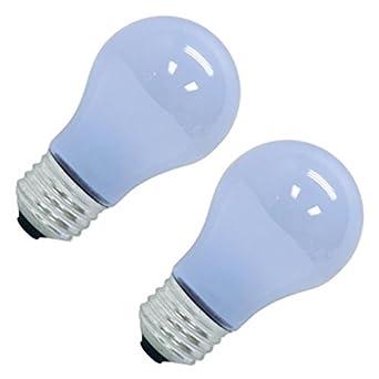 GE 48706 - 40 Watt Light Bulb - A15 - Transparent Neodymium - Appliance - 1,000 Life Hours - 320 Lumens - 120 Volt - 2 Pack