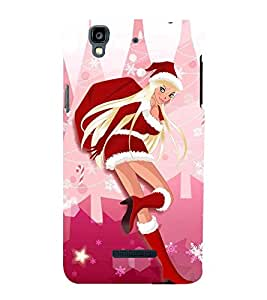 Cute girl Back Case Cover for YU Yureka::Micromax Yureka AO5510
