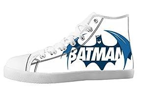 For Batman Design High Top Lace Up Canvas Custom For Men's Shoes-8M(US)