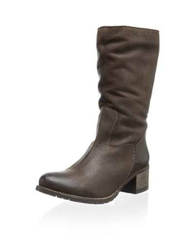 Alessandro Nerini Women's Lined Mid-Calf Boot  [Dinasty Dark Brown]
