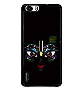 printtech Lord Krishna Beautiful Eyes Back Case Cover for Huawei Honor 6 ,Versions: - H60-L01 TDD LTE (Single SIM) - H60-L02 FDD&TDD LTE, HSDPA - H60-L04 FDD&TDD LTE, HSDPA (Single SIM) - H60-L12 FDD LTE, HSDPA, NFC - H60-L12 FDD LTE, NFC