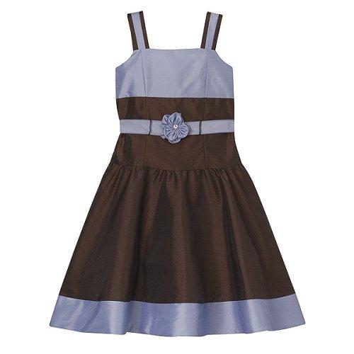 Girls' Perfectly Dressed® Shantung Dress - Brown/ Purple