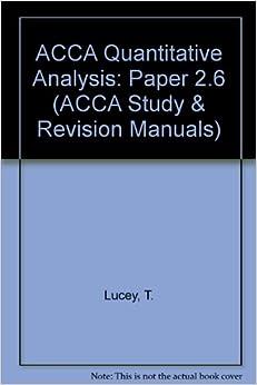 quantitative analysis exam review solutions Qualitative analysis is a securities analysis that uses subjective judgment based on  exam prep series  quantitative analysis uses exact inputs such as.