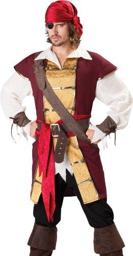 InCha (Mens Burgundy Pirate Costumes)