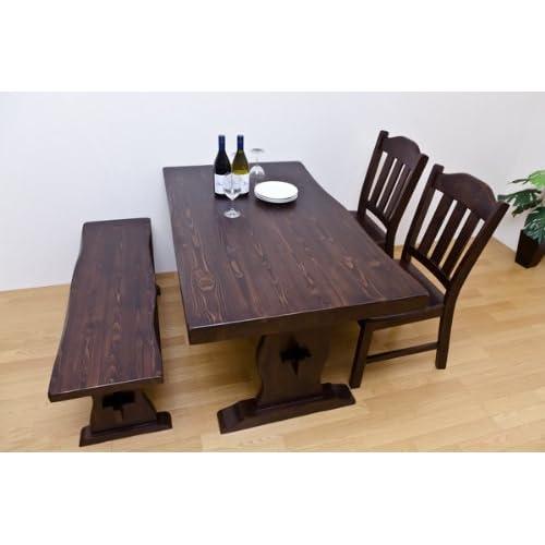 家具 机 テーブル 折りたたみ お洒落 浮造り ダイニングテーブル 135cm幅 ダークブラウン