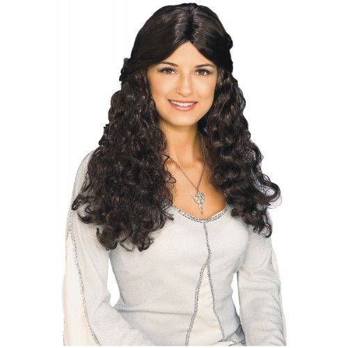 WMU - Arwen Wig - Lord of the Rings, Brown, One Size