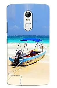 Omnam Boat Lying On Beach Printed Designer Back Cover Case For Lenovo Vibe X3