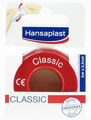 Hansaplast Fixierpflaster Classic, 5m x 2,5cm (3er Pack)