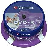Pack25 Dvd+R Verbtm 16X 4.7Gb Print Spin