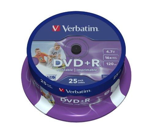 DVD+R 16X 4.7GB SPINDLEX25 SUPL4.7GB SPEED 16X INKJET PRINT