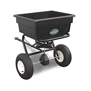 Spyker Commercial Grade 125-Pound Capacity Tow Behind Broadcast Spreader With Poly Hopper And Pneumatic Tires #125
