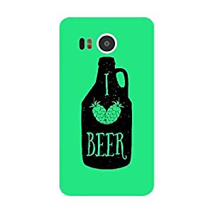 Skin4gadgets Awesome Wine & Dine Quotes, Pattern 53, Color - Orange Phone Skin for GOOGLE NEXUS 5X