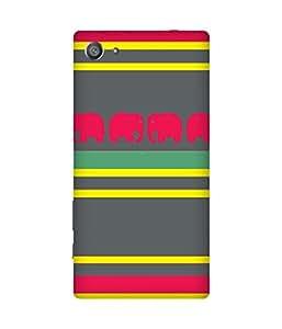 Stripes And Elephant Print (31) Sony Xperia Z5 Case