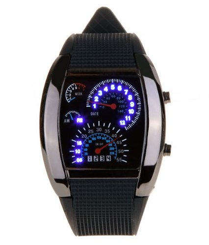(Tvg) Multifunctional Man'S Digital Led Watch Wristwatch Timepiece With Week & Minutes & Day & Hours Wmn-80315
