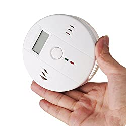 Patuoxun LCD CO Battery Operated Combination Carbon Monoxide Smoke Alarm by Patuoxun