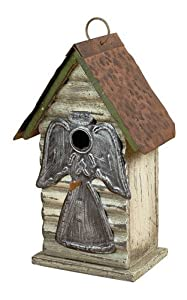 Carson Home Accents Silver Angel Birdhouse, 11-Inch (Discontinued by Manufacturer)