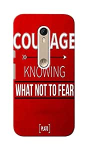 KnapCase Courage Designer 3D Printed Case Cover For Motorola Moto X Style