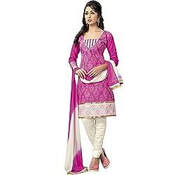 ZofianaFashions Cotton Embroidered Salwar Suit Dupatta Material (POS08)