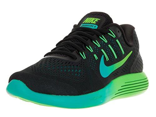 Nike Men's Lunarglide 8 Black/Multi Color R Tl Clr Jd Running Shoe 10.5 Men US