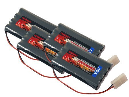 Combo: 4 pcs of 9.6V 2000mAh Nimh Battery Packs for RC Cars