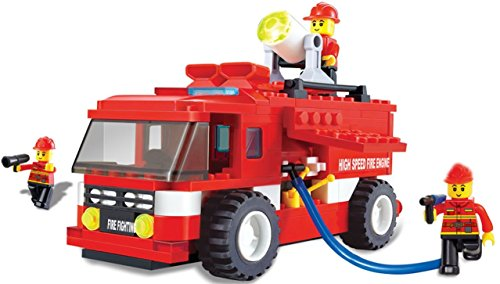 Fire truck emergency series building blocks 180pcs play set – vehicle rush and rescue the burning state city with the everyday heroes good toy for children – great educational toy – compatible bricks