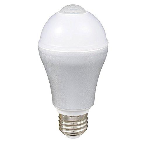 ルミナス LED電球 自動点灯 人感センサー付き 昼白色 40W相当 494lm 口金E26 LVA40N-HS