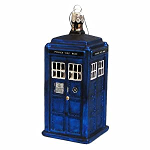 Kurt Adler 4-1/4-Inch Doctor Who Tardis Figural Ornament