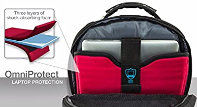 """Wenger 600638 IBEX 17"""" Laptop Backpack , Triple Protect compartment with iPad/Tablet / eReader Pocket in Blue 25 Litres by Freecom"""