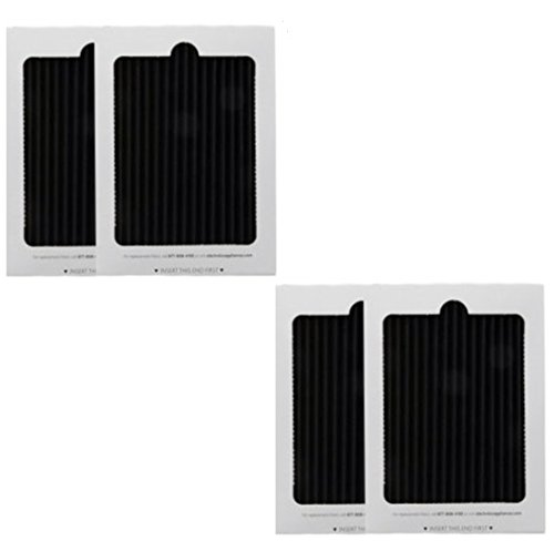 4 Replacement Frigidaire Pure Air Ultra Refrigerator Air Filters, Also Fits Electrolux, Compare to Part # EAFCBF PAULTRA 242061001 241754001,