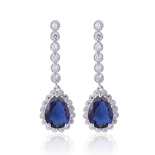 GULICX-Wedding-Tear-Blue-Cubic-Zirconia-Crystal-CZ-Silver-Plated-Base-Sapphire-Color-Drop-Dangle-Earring