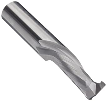 LMT Onsrud 60-100MW Series Carbide Square Nose End Mills, Inch, Uncoated (Bright) Finish, 30 Degree Helix, For Use With Laminated Materials