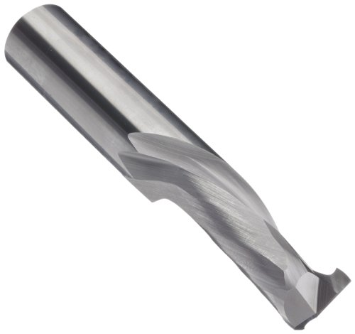 LMT Onsrud 60-181MW Solid Cabide Max Life Compression Spiral Cutting Tool, Inch, Uncoated (Bright) Finish, 30 Degree Helix, 2 Flutes, 5.0000