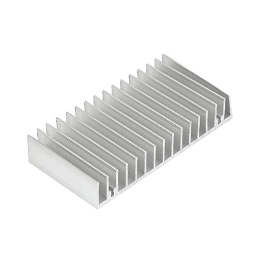 Silver White 100Mmx50Mmx18Mm Led Heat Sink Aluminum Cooling Fin