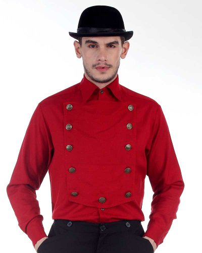Steampunk Victorian Costume Red Airship Shirt