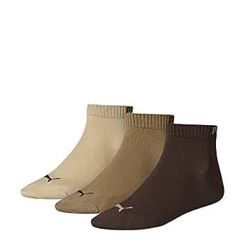 3 paires de Puma trimestre cogne 3P 251015-717 Brown espadrilles multicolores Chaussettes, Socken:39-42