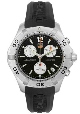 Men's Aquaracer Chronograph Black Rubber
