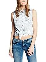 Pepe Jeans London Camisa Mujer Ditsy (Denim Claro)