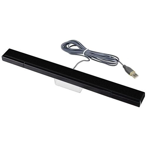 Nextronics Sensor Bar USB for Wii / Wii U / PC / Mac - Stylish Black Color - Includes 1 year warranty (Wii U Sensor Bar Usb compare prices)