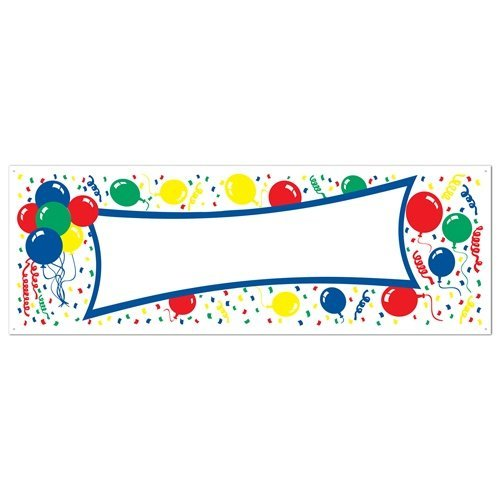 Balloons Blank Sign Banner Party Accessory (1 count) (1/Pkg)