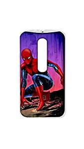 Spiderman Stylish Designer Mobile Case/Cover For Moto X Play 2D Transparent