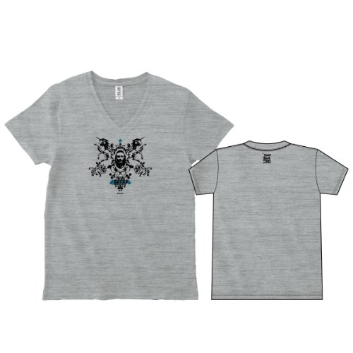 ggrks(ググレカス) Vネック Tシャツ (XL, 05ヘザーグレー) [ウェア&シューズ]