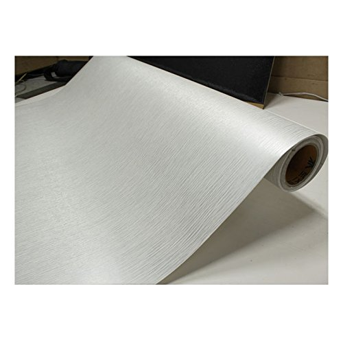 Shine white silver pearl wood pattern contact paper film for White adhesive wallpaper