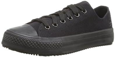 Skechers for Work Women's Gibson Arias Slip Resistant Work Shoe,Black,5 M US