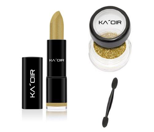 """KA'OIR By Keyshia KAOIR """"GOLDEN GODDESS"""" GOLD Lipstick GLITZSTICK Glitter Set"""