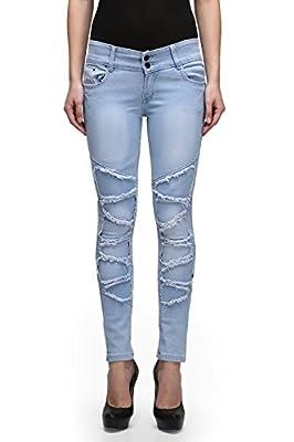 Miss Wow High Waist Denim Jeans for Women (ICEBLU1067_BLUE)