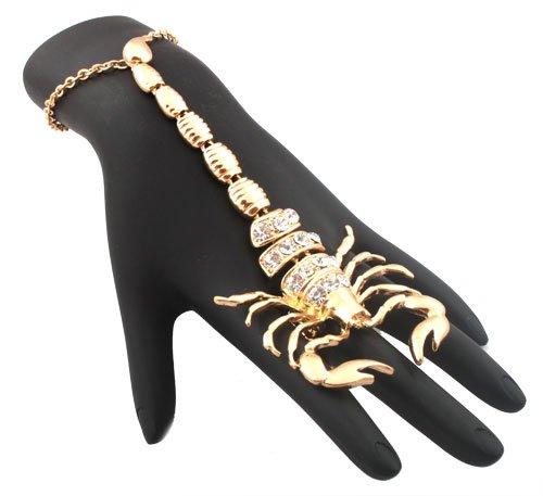Basketball Wives Gold Scorpion Adjustable Finger
