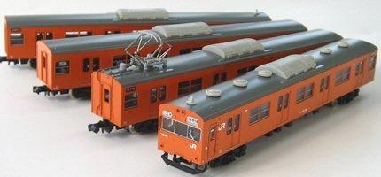 Nゲージ 1069T JR103系 関西形ユニット窓 低運転台 オレンジ4輛トータルセット (塗装済車両キット)