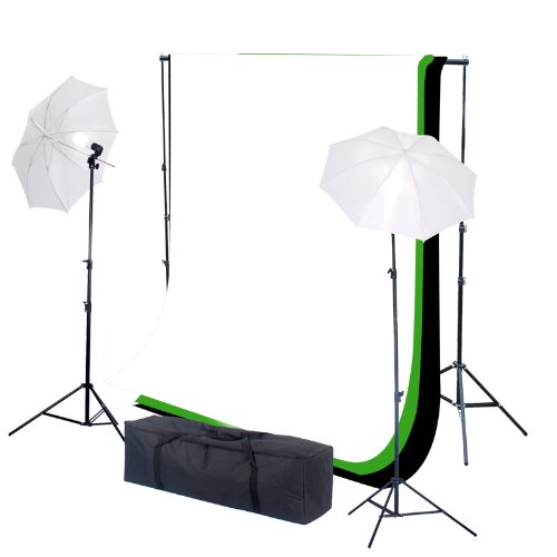 Photo Studio Lighting Kit 3 Backdrops with 2x105W 5500K Light (PHT1) Black Friday & Cyber Monday 2014